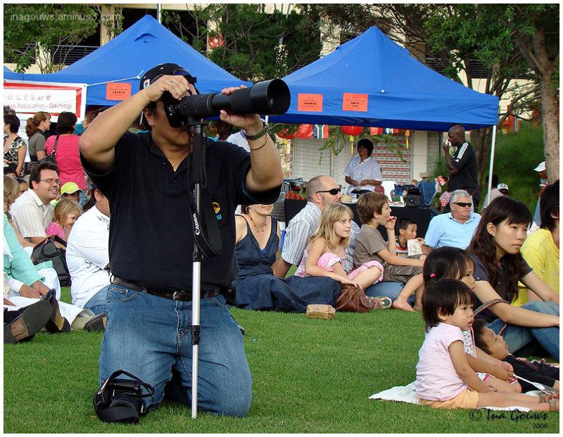 Camera man at Chinese New Year 2008