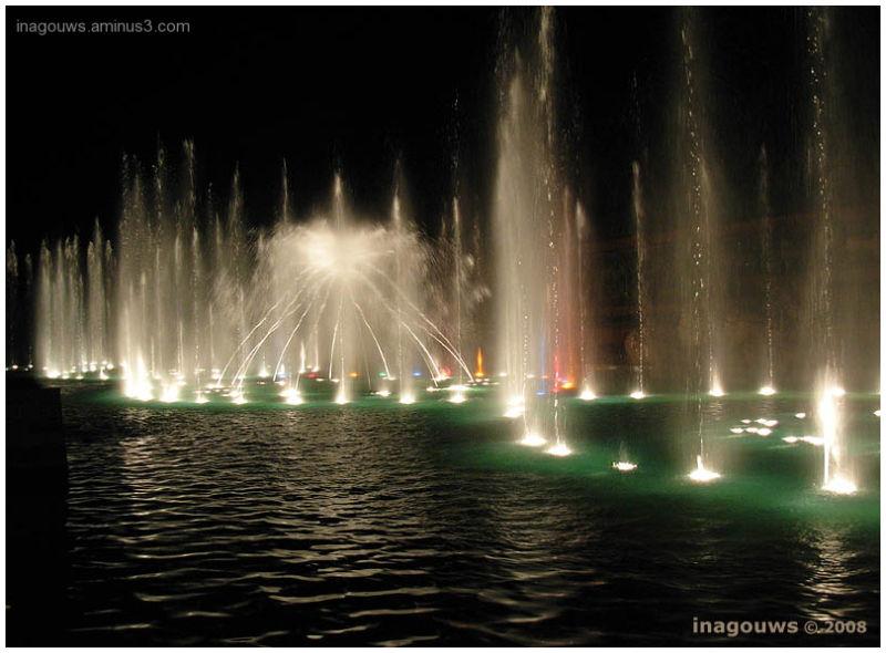 Musical fountains at the Silverstar Casino, Gauten