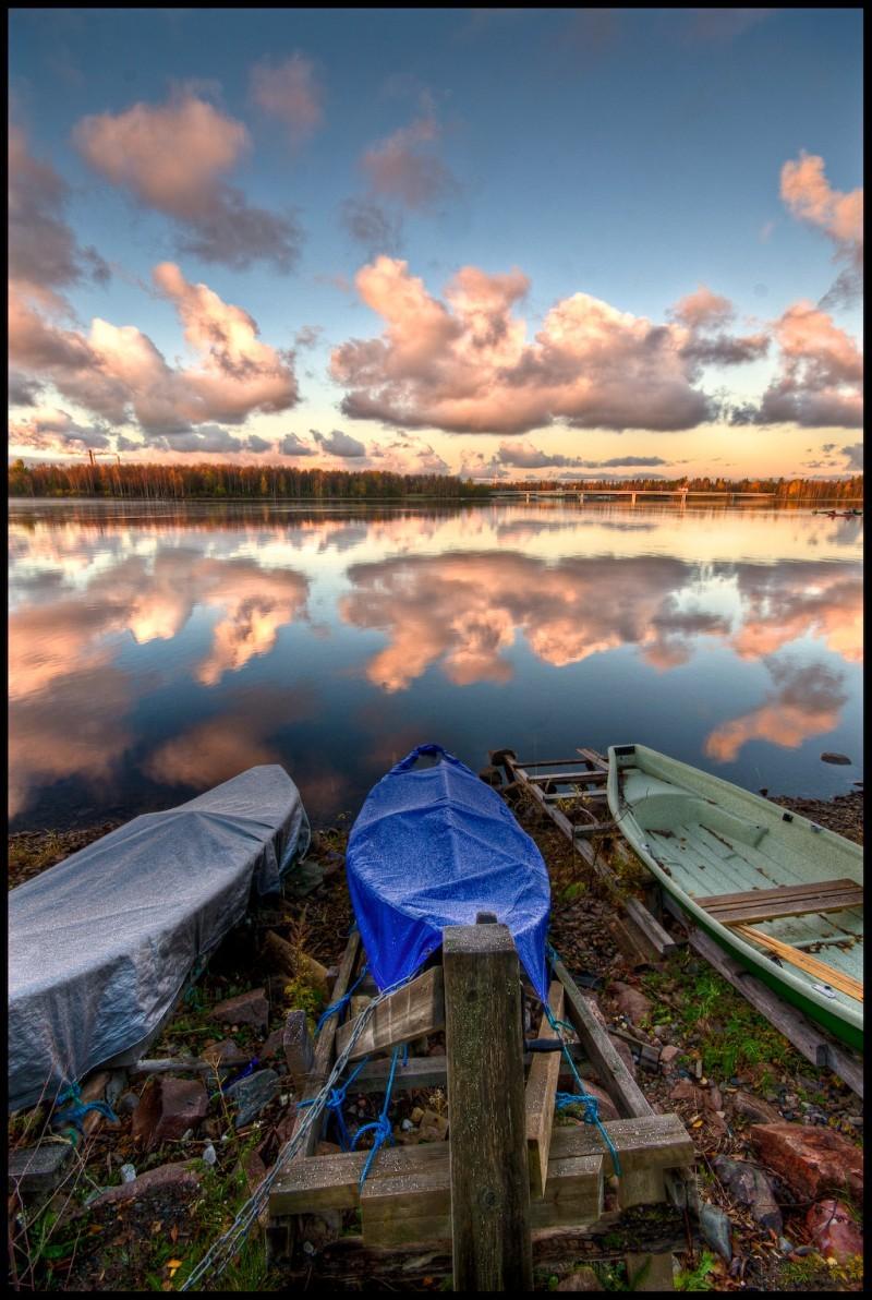 Three Boats and a Sunrise