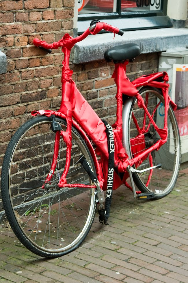 Wrapped Bike in Amsterdam