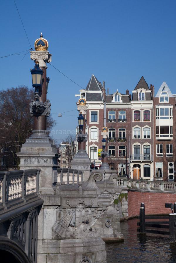 The blauwbrug in Amsterdam