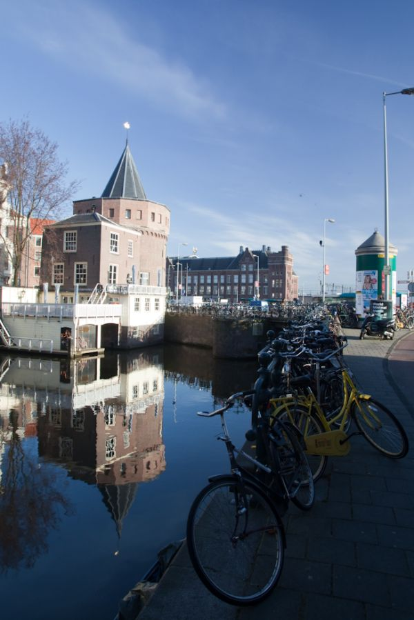 Bikes along the canal