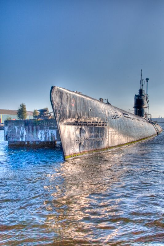 An old Russian submarine in Amsterdam Noord