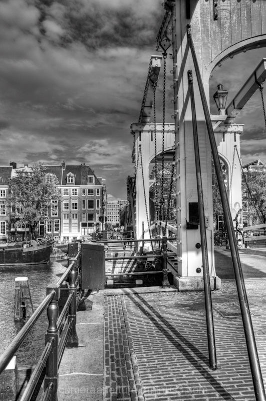 The skinny bridge in the city of Amsterdam