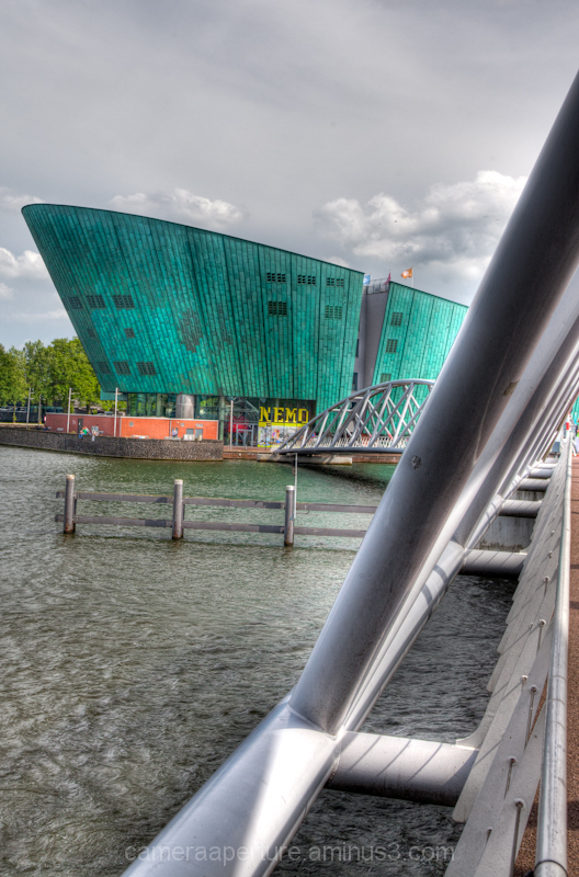 The Nemo science center in the city of Amsterdam