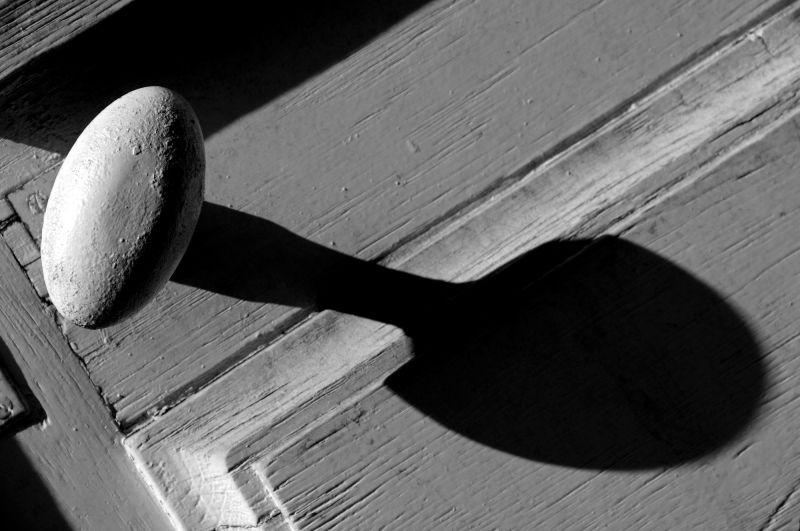 La poignée de la porte