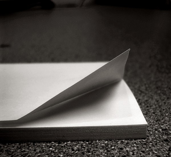post-it pad paper edge fold