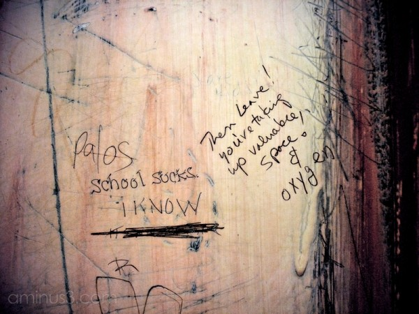 graffiti elevator school