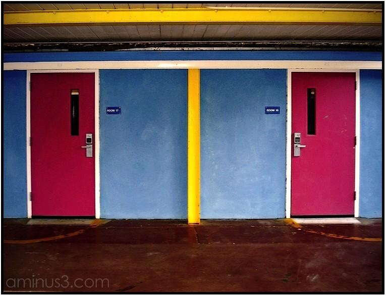 elementary school classroom door wall hallway
