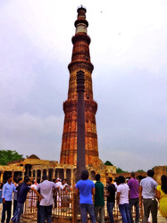 Aligned Qutb Minar and Ashoka Pillar