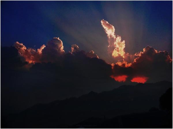 untitled mountain sunset