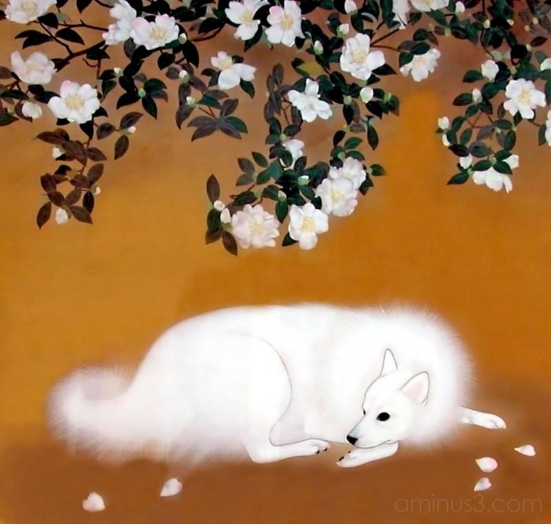Nihonga( painting) by Toshihiko MAEMOTO,Japan