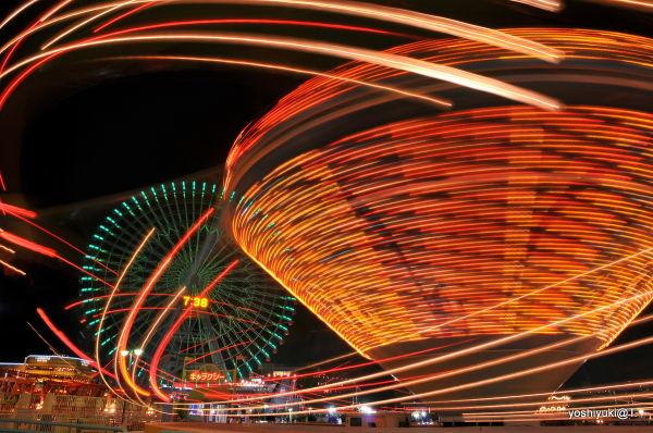Going round, Cosmo World amusement park