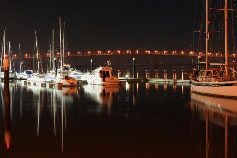 Barcos no Cais de Vila Franca de Xira