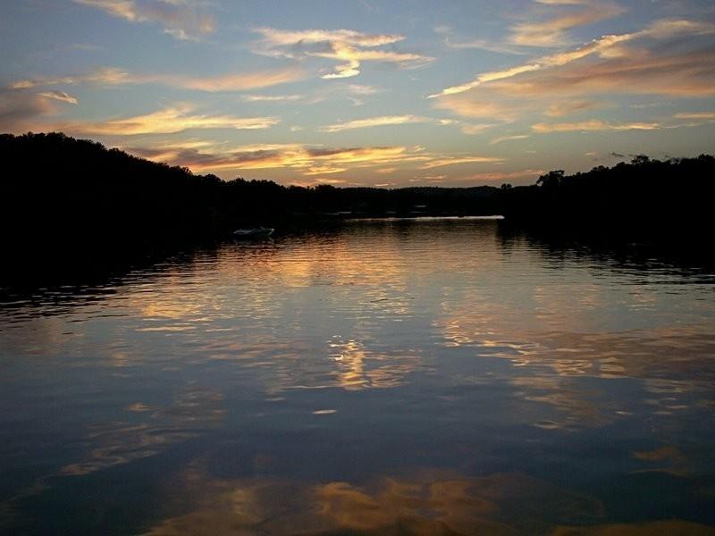 Sunset at Lake of the Ozarks.