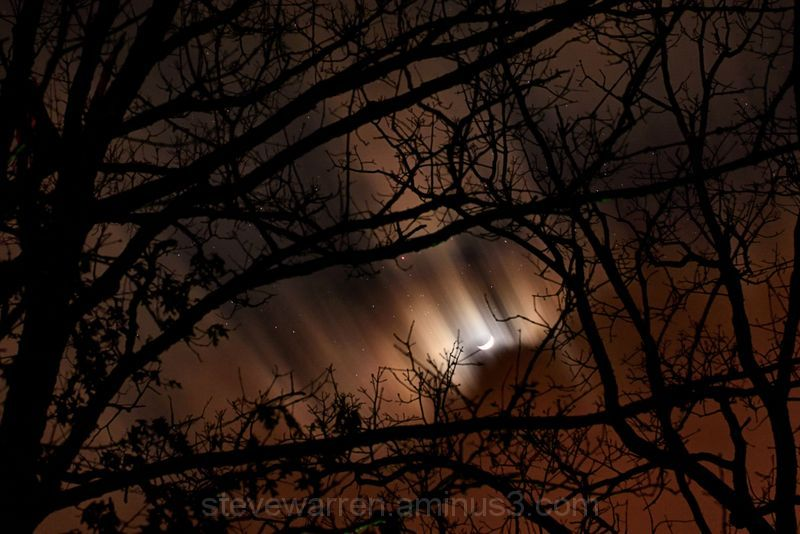 Storm clouds, moon and Stars