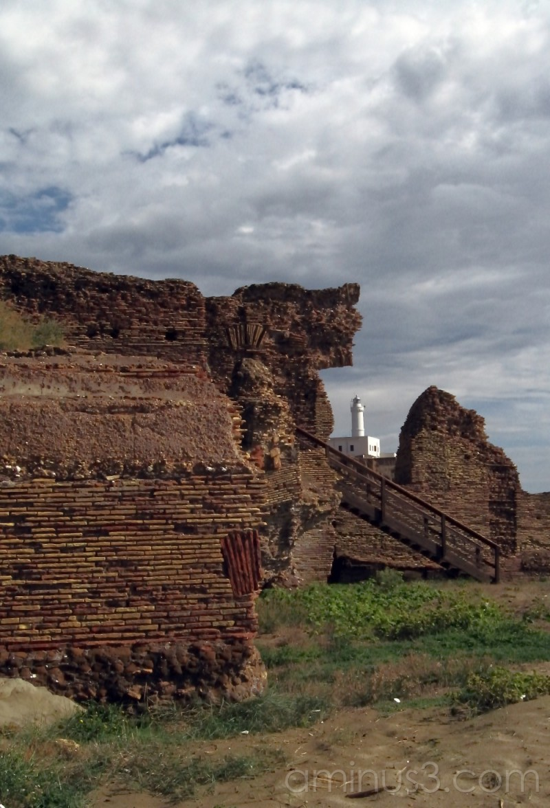Ruins of Nero residence, lighthouse of Anzio