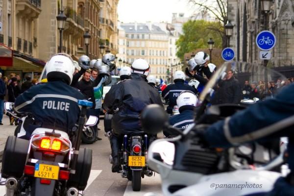 Le Garage  Motocycliste de la Police Nationnale