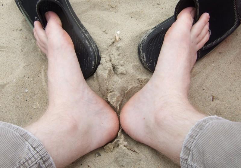 Sat on a beach in Holland