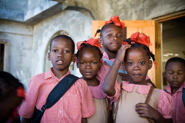 haitian school kids