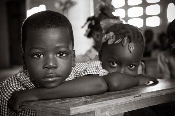 hatian school boy and girl
