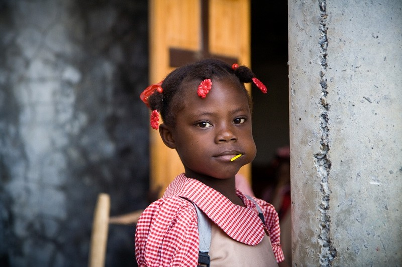 haiti school girl
