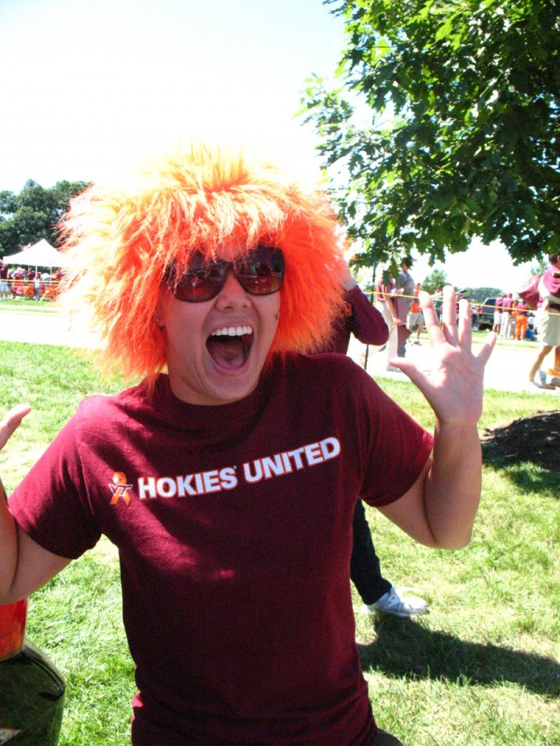 virginia tech, football game