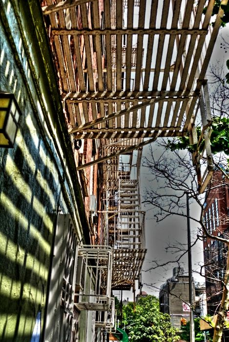 New York cast-iron  building street