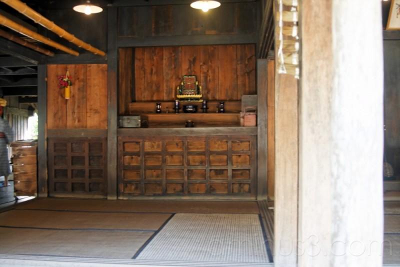 Inside old house, Ryukyu Mura museum, Okinawa