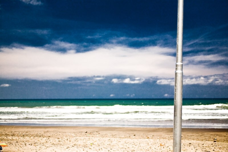 beach lamp sky sea sand blue sunday pole bali indo