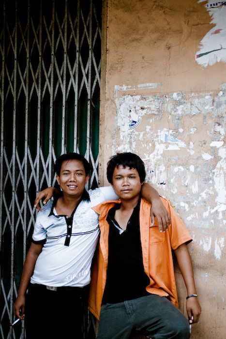 2 men, friends, medan, sumatra, street, fun, urban