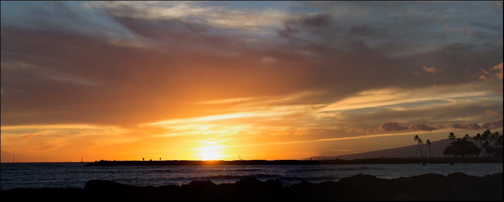 a glorious sunset