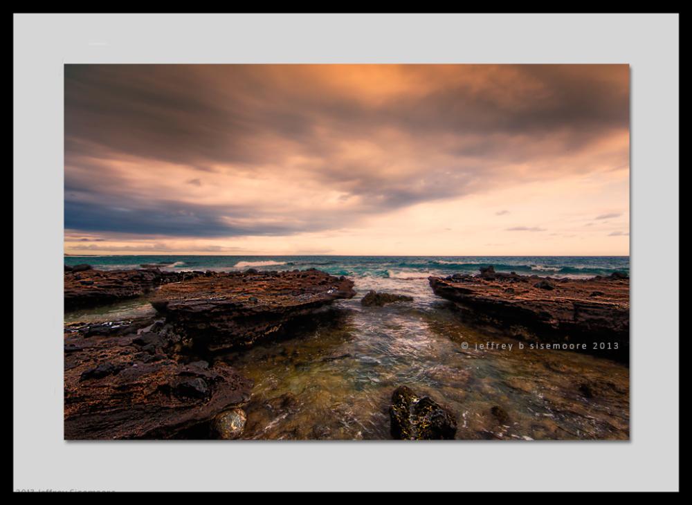 sandy beach lava and ocean III