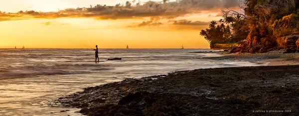 fishing at diamond head beach