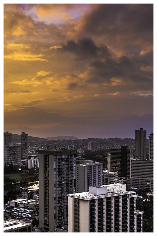 morning light in the city