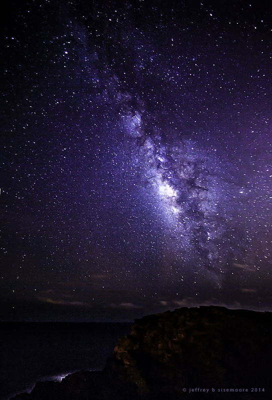 a coastal view of the milky way III