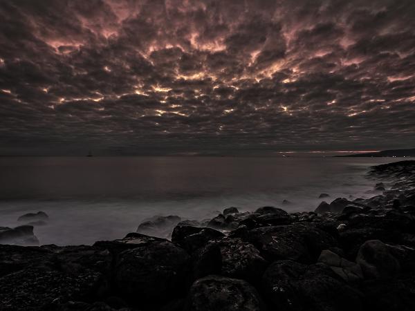 clouds at sundown