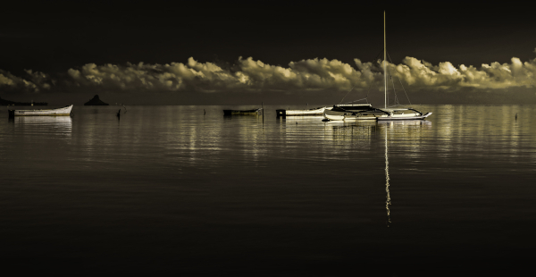 a stillness in the harbor