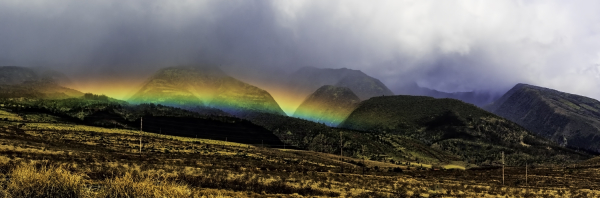 maui mountains rainbow