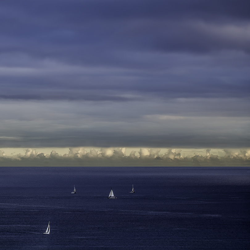 four sailboats