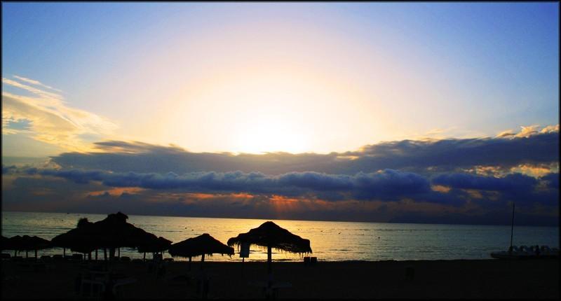 sunrise on alcudia beach