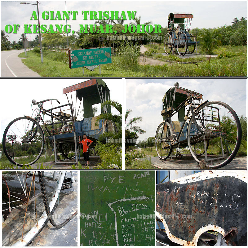 the giant trishaw (tricycle) in kesang