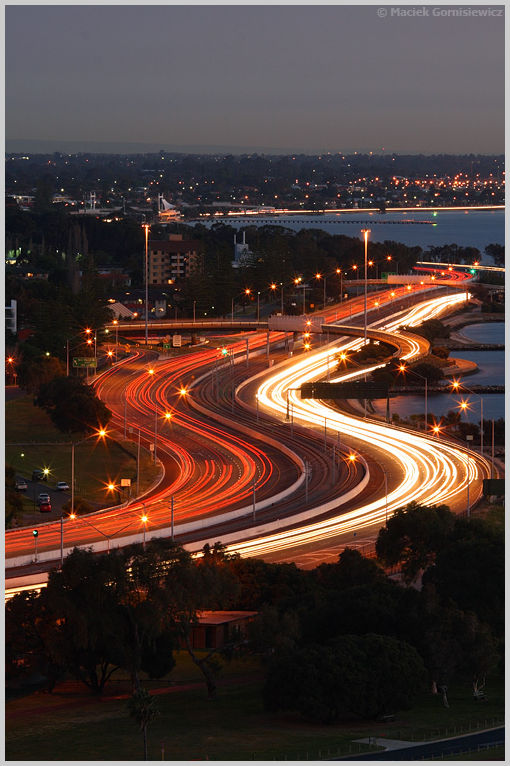 Light Trails on Kwinana Freeway