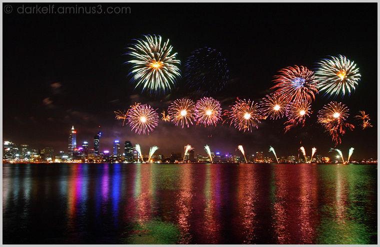 Australia Day Fireworks 2008