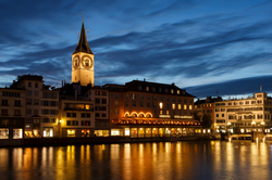evening on the Limmat