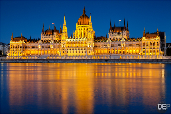 Hungarian Parliament Building - Evening