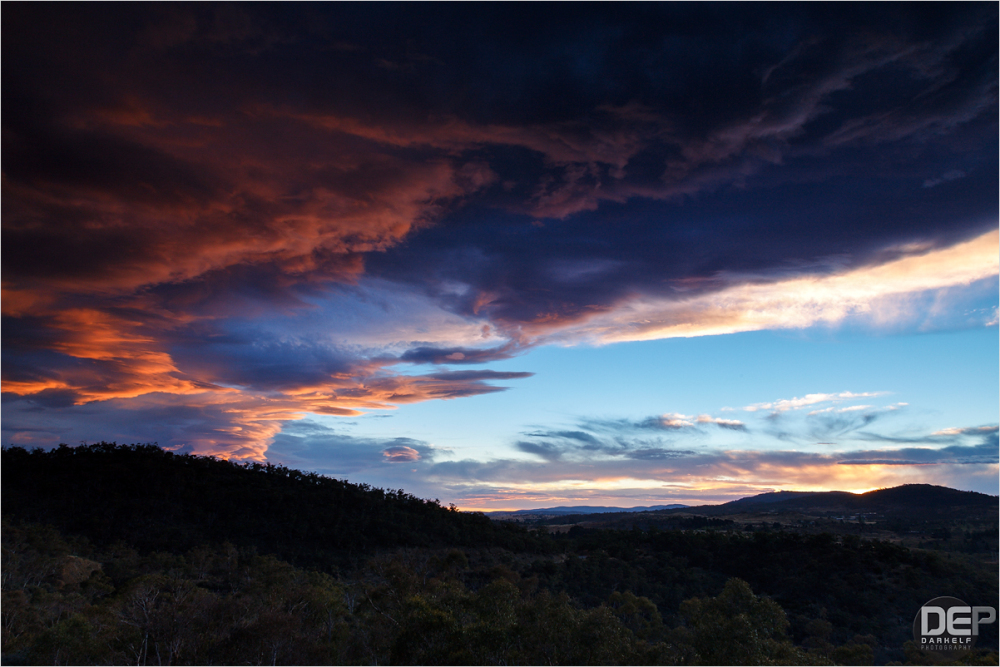 sunset over Jindabyne