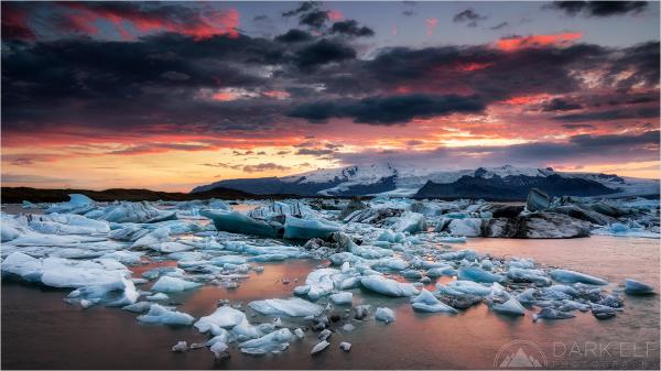 Sunset Over Jokulsarlon