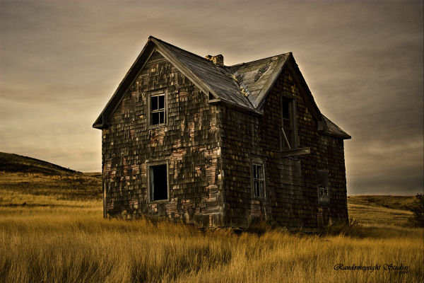 old house prairie photoshop