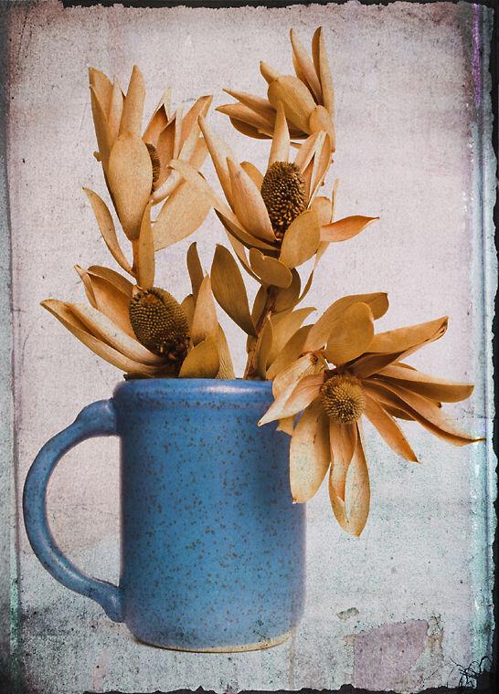 Mug with Dry Flowers